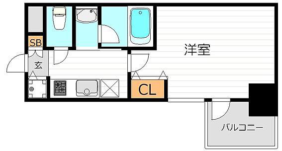 マンション(建物一部)-大阪市北区紅梅町 3点セパレートの1Kという、単身者に嬉しい間取り