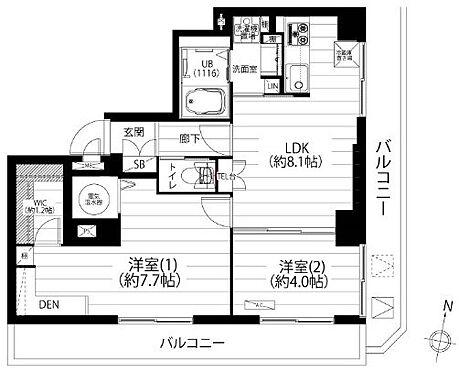 中古マンション-横浜市神奈川区栄町 ☆2面バルコニーで全室バルコニーに面しています☆陽当り・通風良好なお部屋位置です☆