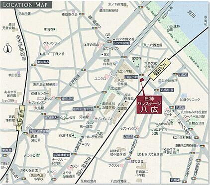 マンション(建物一部)-墨田区八広5丁目 地図