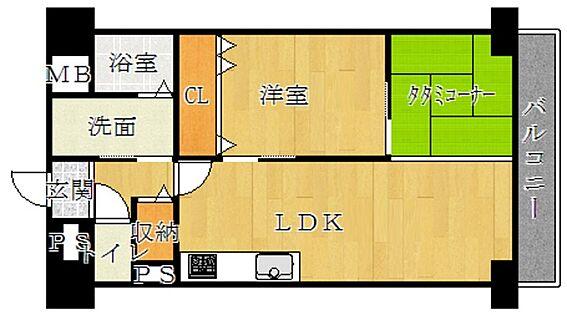 マンション(建物一部)-京都市南区久世上久世町 洋室の他、畳のコーナーもある個性的な間取りです