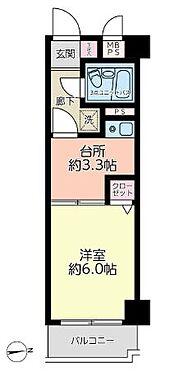 マンション(建物一部)-川崎市中原区井田三舞町 台所部分が広く取られた間取りです。