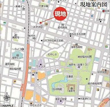 収益ビル-台東区浅草3丁目 地図