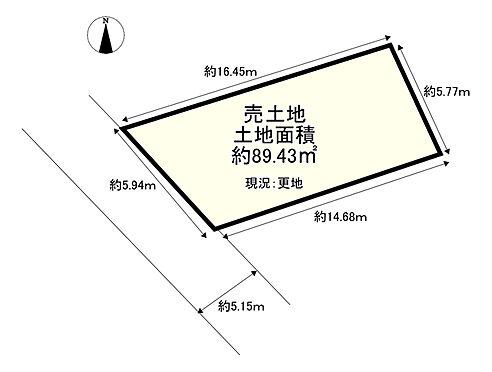 土地-交野市妙見坂7丁目 区画図