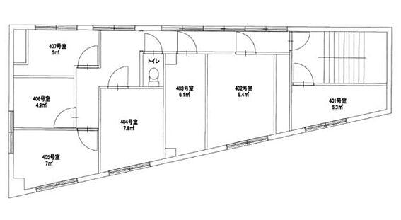 一棟マンション-江東区亀戸8丁目 4階間取図