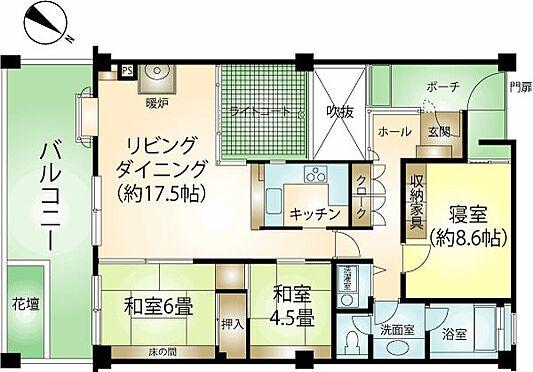 リゾートマンション-熱海市熱海 93.36平米の3LDK。美室。