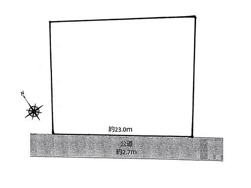 土地-八王子市谷野町 区画図