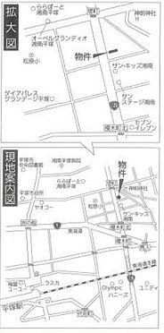 ビル(建物全部)-平塚市中堂 地図