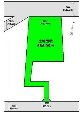 土地-仙台市太白区根岸町 区画図
