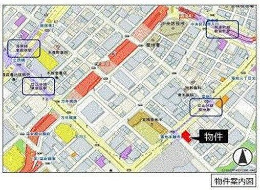 店舗(建物一部)-中央区築地3丁目 地図