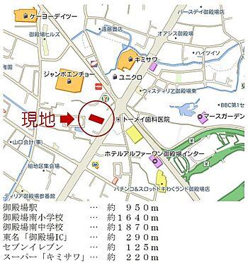マンション(建物一部)-御殿場市新橋 現地案内図