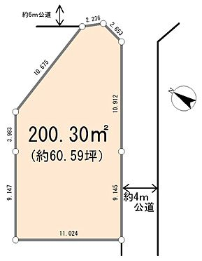 土地-比企郡嵐山町大字菅谷 区画図