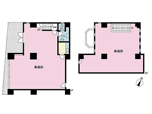 店舗事務所(建物一部)-平塚市浅間町 建物1、2階の事務所部分となります