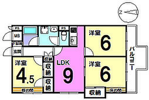 マンション(建物一部)-大阪市住之江区中加賀屋2丁目 間取り