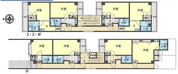 マンション(建物全部)-京都市伏見区深草西浦町8丁目 間取り