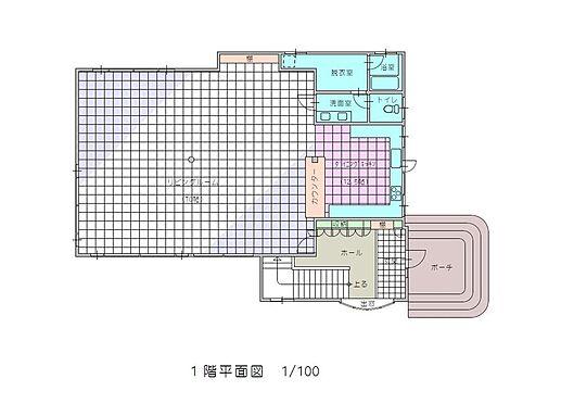 住宅付店舗(建物全部)-八街市八街ほ 居宅1階間取図