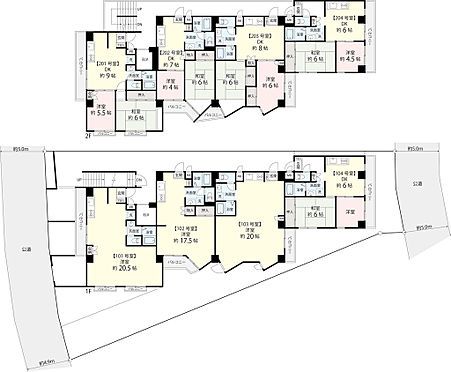 マンション(建物全部)-豊島区北大塚1丁目 1階、2階の間取りです。