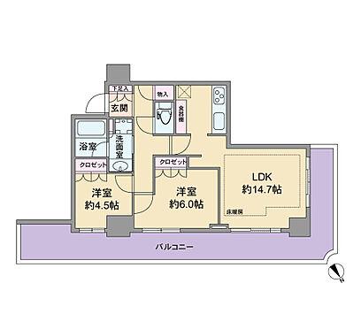 マンション(建物一部)-名古屋市中区大井町 58.41平米の2LDKです