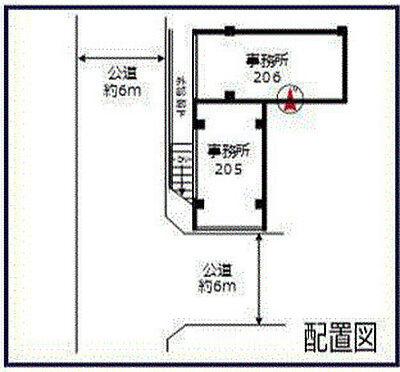 店舗事務所(建物一部)-江戸川区北小岩6丁目 区画図