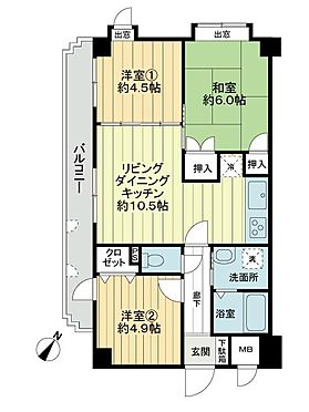 区分マンション-神戸市中央区神若通6丁目 間取り