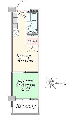 マンション(建物一部)-大田区大森西2丁目 間取図