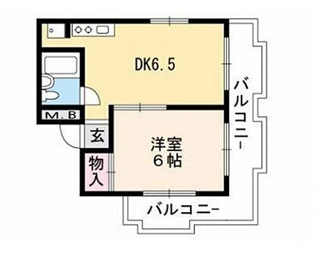 マンション(建物一部)-京都市上京区西町 間取り