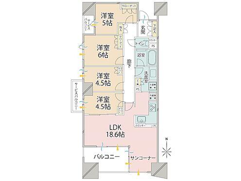 中古マンション-品川区勝島1丁目 マンション内でも珍しい4LDKです。