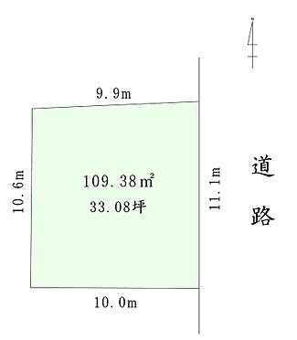マンション(建物全部)-大田区西糀谷1丁目 109.38平米(33.08坪)、間口約11.1m、幅員約7.2mございます。