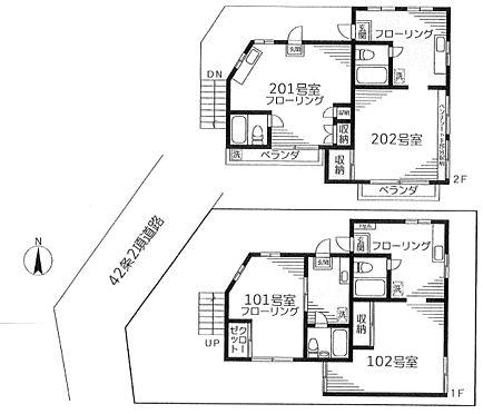 アパート-新宿区高田馬場3丁目 間取り