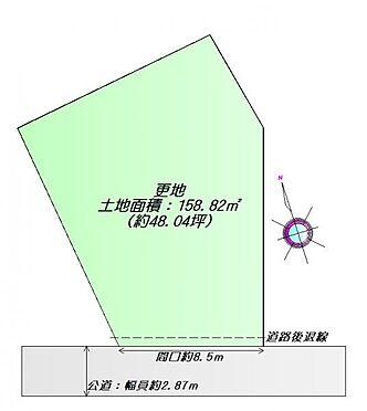 土地-石巻市田道町2丁目 区画図