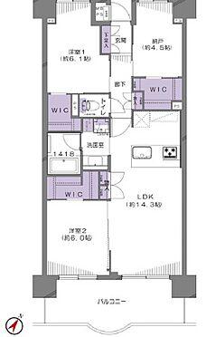 区分マンション-練馬区大泉学園町7丁目 各部屋WIC付の2SLDK
