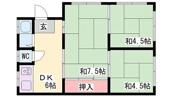 マンション(建物全部)-神戸市長田区高取山町1丁目 間取り