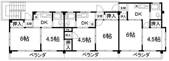 マンション(建物全部)-松戸市東平賀 間取り