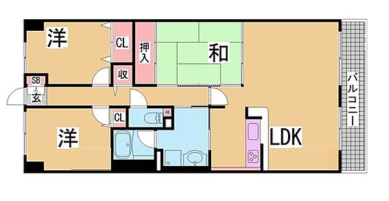 マンション(建物一部)-神戸市北区大脇台 収納が十分あり、ファミリー世帯にピッタリです。
