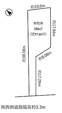 土地-豊田市豊栄町5丁目 こちらは区画図です。