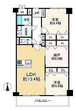 中古マンション-大阪市城東区中央3丁目 間取り