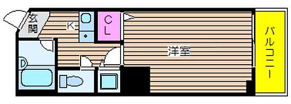 マンション(建物一部)-大阪市西区西本町2丁目 単身者向けのシンプルな間取り
