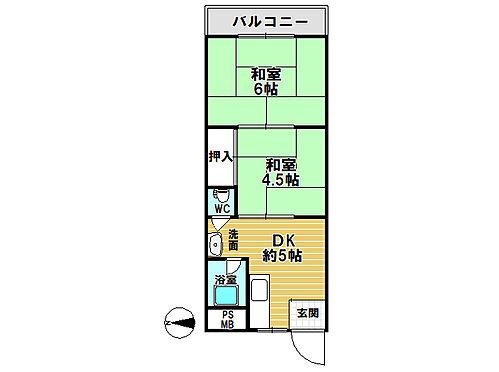 マンション(建物一部)-大阪市住吉区苅田3丁目 間取り