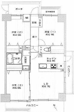 中古マンション-足立区鹿浜7丁目 間取り