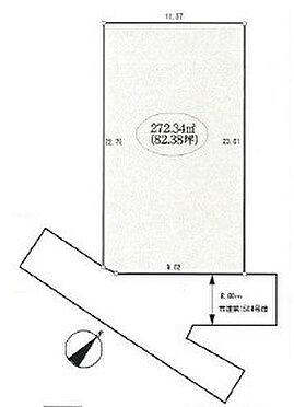 土地-富士見市西みずほ台3丁目 区画図