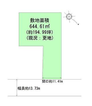 土地-仙台市青葉区米ケ袋1丁目 区画図