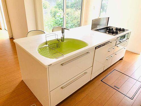 中古一戸建て-津島市百島町字居屋敷 奥様に人気のシステムキッチン。洗い場はオシャレなイエローグリーン!主婦の味方、食洗機が付いてます!