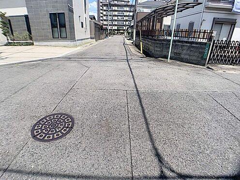戸建賃貸-名古屋市西区清里町 前面道路は閑静な住宅地をはしる車通りの少ない道路。