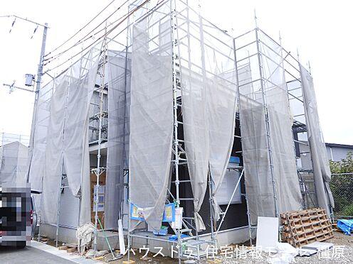 戸建賃貸-磯城郡田原本町大字阪手 建築工事が始まりました。基礎や構造部分もしっかりご確認頂けます。モデルルームへのご案内も可能です。(2021年8月撮影)