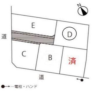 土地-西尾市戸ケ崎4丁目 D区画 150.02平米(約45.38坪)