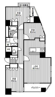 マンション(建物一部)-足立区谷中2丁目 南向き角部屋住戸で陽当り・通風良好です。