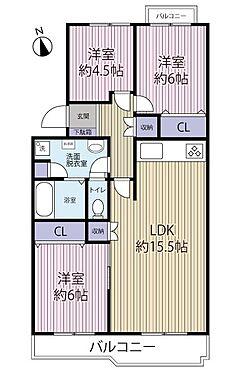 中古マンション-多摩市貝取3丁目 各居室は洋室になっています。76m2-3LDKの間取り。
