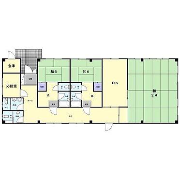 マンション(建物全部)-福岡市南区長丘5丁目 1階平面図 現地優先です