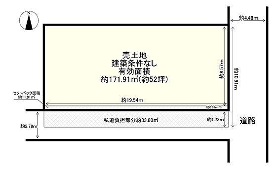 土地-大阪市平野区平野本町2丁目 区画図