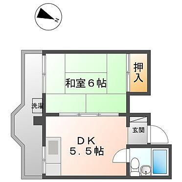 マンション(建物全部)-川崎市幸区下平間 102号室間取り