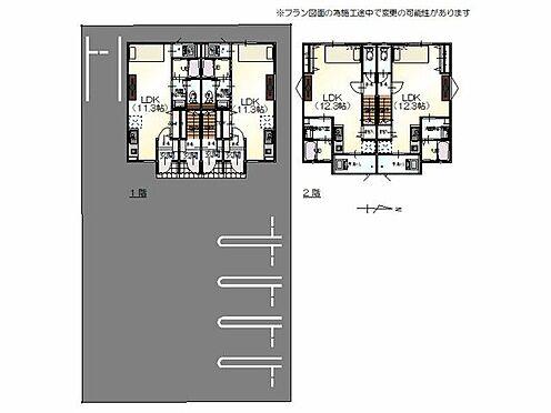 アパート-福井市木田町 区画図